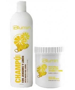 Šampūnas BLUMIN su imbierų ir citrinų ekstraktais 1000 ml + Kaukė BLUMIN su imbierų ir citrinų ekstraktais 700 ml   atvyksta 9-15 darbo dienų