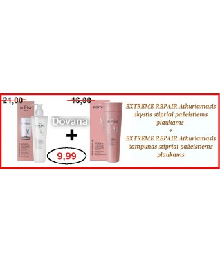 EXTREME REPAIR Atkuriamasis skystis stipriai pažeistiems plaukams 200 ml + Atkuriamasis šampūnas stipriai pažeistiems plaukams 200 ml