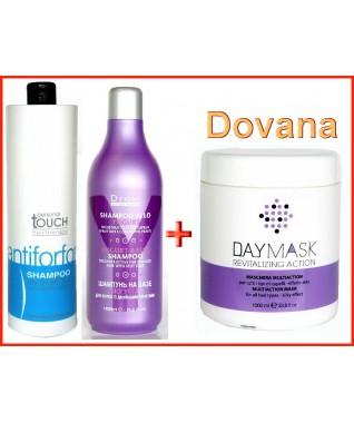 PERSONAL TOUCH Hairtherapy -šampūnas nuo pleiskanų 1000 ml + Draw šampūnas 1000 ml + DOVANA - DayMask plaukų kaukė 1000 ml (Dovana Nr1)