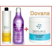 PERSONAL TOUCH Hairtherapy -  šampūnas nuo plaukų slinkimo 1000 ml + DRAW plaukų šampūnas + DOVANA - DAYMASK plaukų kaukė (Dovana Nr2)