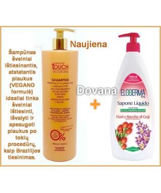 PERSONAL TOUCH Hairtherapy - Šampūnas švelniai ištiesinantis,  atstatantis plaukus VEGANO formulė 1000 ml + DOVANA - skystas muilas 1000 ml !