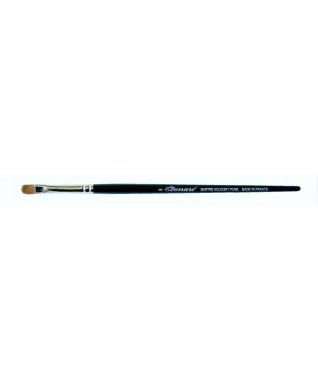 Šepetėlis plokščias, akių šešėlių padengimui ant vokų, Kolinsky sabalo plaukų, profesionalus NR 9161UB08