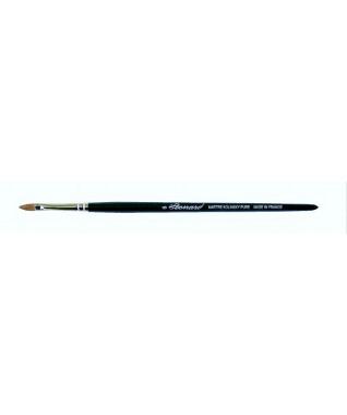 Šepetėlis akių šešėlių padengimui ant vokų,  plokščias, migdolo formos,  Kolinsky sabalo plaukų , profesionalus-  9509CH06