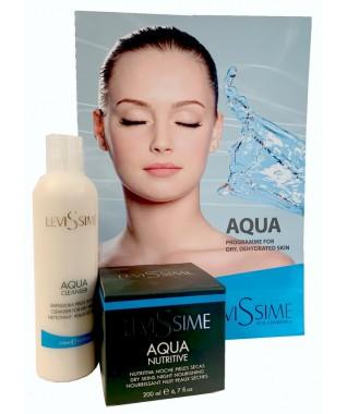 Maitinamasis  kremas su hialurono rūgštimi ir moringų aliejumi 200 ml + Aqua kreminis veido ir akių makiažo valiklis 250 ml