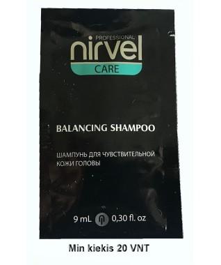 Kelioninis: Nirvel profesionalus balansuojamasis šampūnas jautriai galvos odai 9 ml X 20 vnt