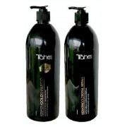 Šampūnas su aktyviuoju keratinu 1200 ml + Atkuriamoji plaukų kaukė su keratinu ir argano aliejumi 1000 ml -  atvyksta 9-12 darbo dienų