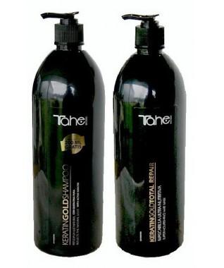Šampūnas su aktyviuoju keratinu 1200 ml + Atkuriamoji plaukų kaukė su keratinu ir argano aliejumi 1000 ml