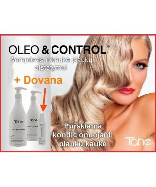 Oleo & Control šampūnas + kaukė plaukų atstatymui 500ml + 500ml + DOVANA - Purškiama kondicionuojanti plaukų kaukė 60 ml