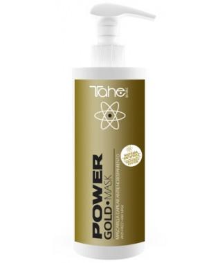 GOLD POWER- ilgalaikio poveikio kaukė šalinanti plaukų garbanojimą  400 ml