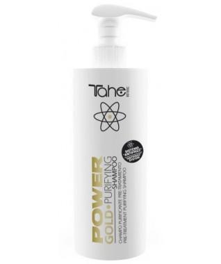 GOLD POWER- išvalantis šampūnas garbanotiems plaukams prieš plaukų tiesinimo procedūrą 400 ml