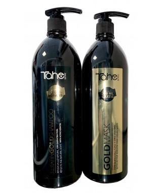 Šampūnas su aktyviuoju keratinu 1000 +200 ml + Atkuriamoji plaukų kaukė su keratinu ir argano aliejumi 1000 + 200 ml